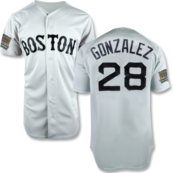 Fenway 100 Replica Road Jersey - Gonzalez FJEA0127