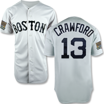 Fenway 100 Replica Road Jersey - Crawford FJEA0134