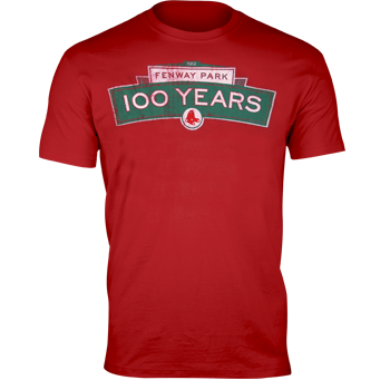 Fenway 100 Fieldhouse T-Shirt - Red FTA0002