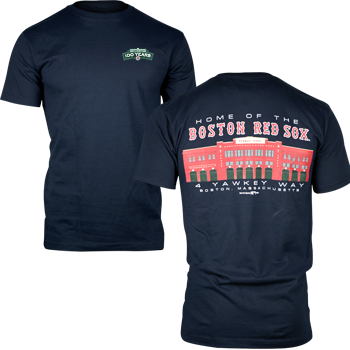 Fenway 100 2-Sided Picture T-Shirt - Navy FTA0010