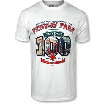 Fenway 100 &quot;100&quot; T-Shirt - White FTA0024