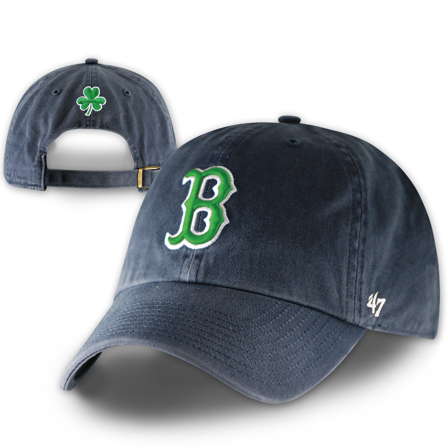 Red Sox St. Pat's Clean-Up Navy H0126