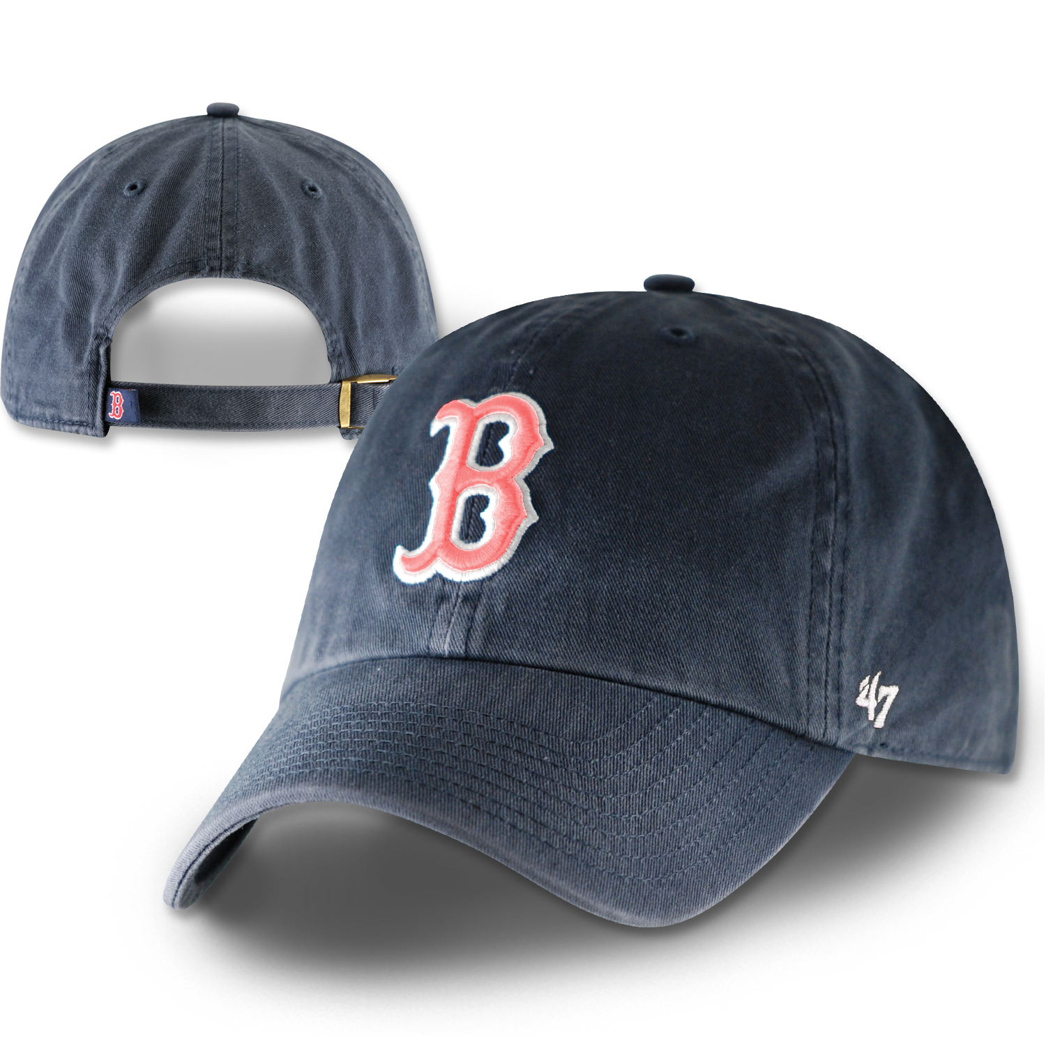 Red Sox Clean-Up Navy w/Pink H0142