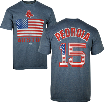 Player T-Shirt Pedroia - Stars and Stripes TA0257