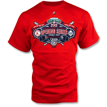Red Sox 2012 Opening Series T-Shirt - Red TA0607