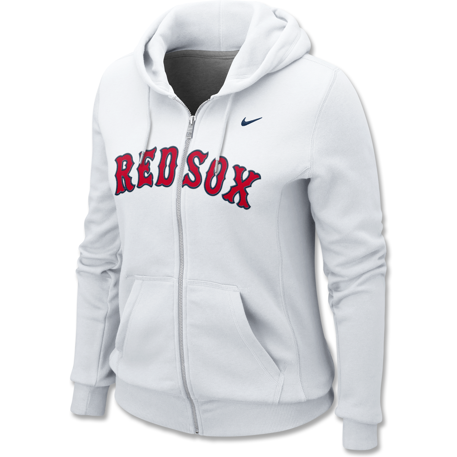 Red Sox Nike Ladies White Full Zip Hood WF0125